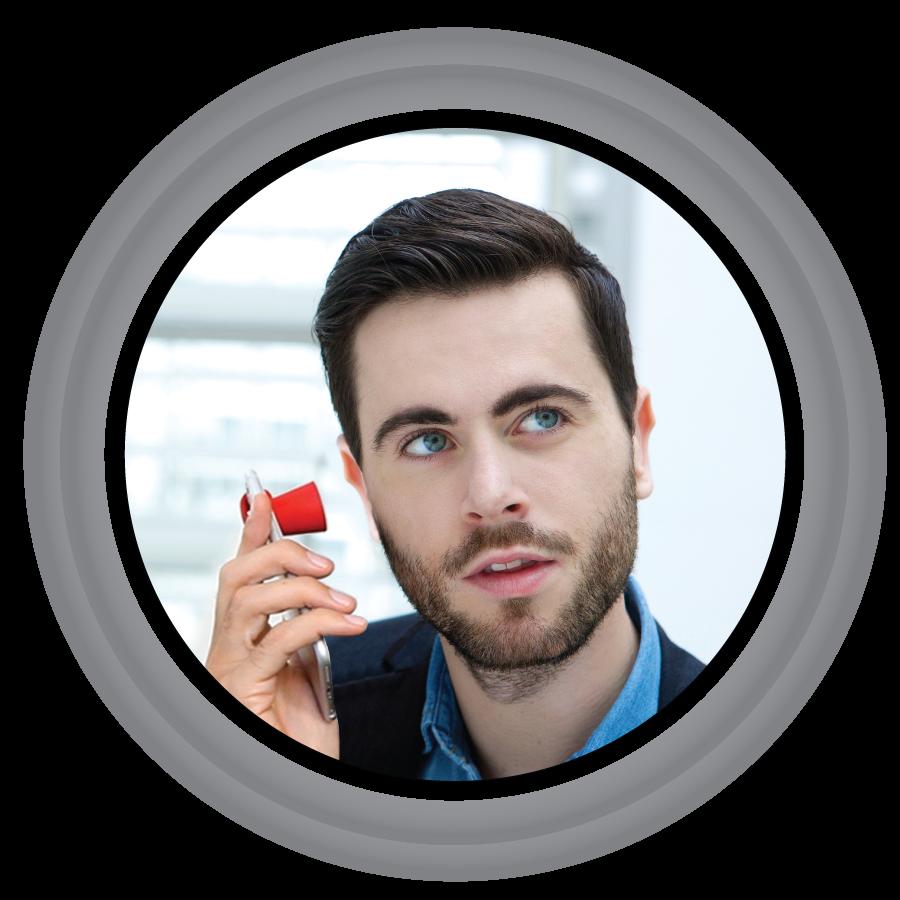 dostanziofono-accessorio-per-i-cellulari-per-gli-uomini-e-donne-di-affari